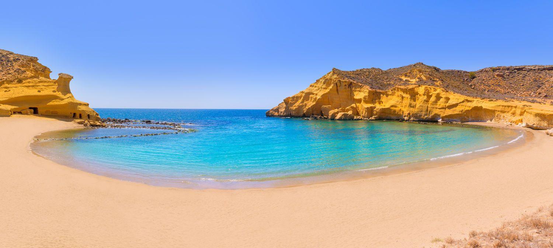 Playa De Cocedores Murcia Jpg 1500 673 Playas Paradisiacas Costa De Almeria Viajar Por España