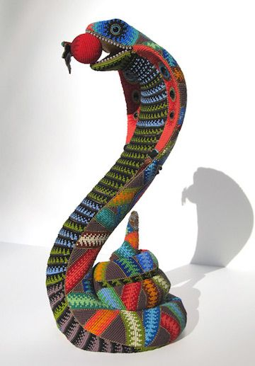 Artist Transforms Ordinary Objects with Bright Colored Beads - My Modern Metropolis