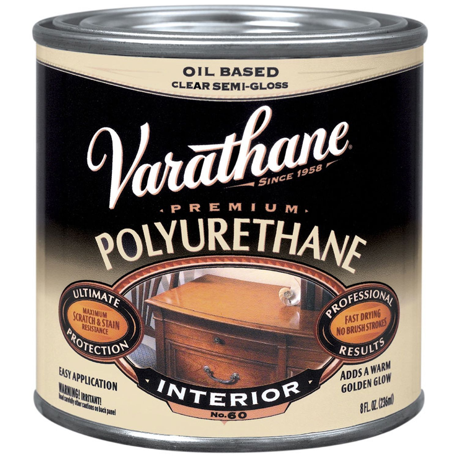 Varathane 242172h 8 Oz Oil Based Clear Semi Gloss Polyurethane Interior Finishes Products In 2019 Tung Oil Linseed Oil Interior Paint