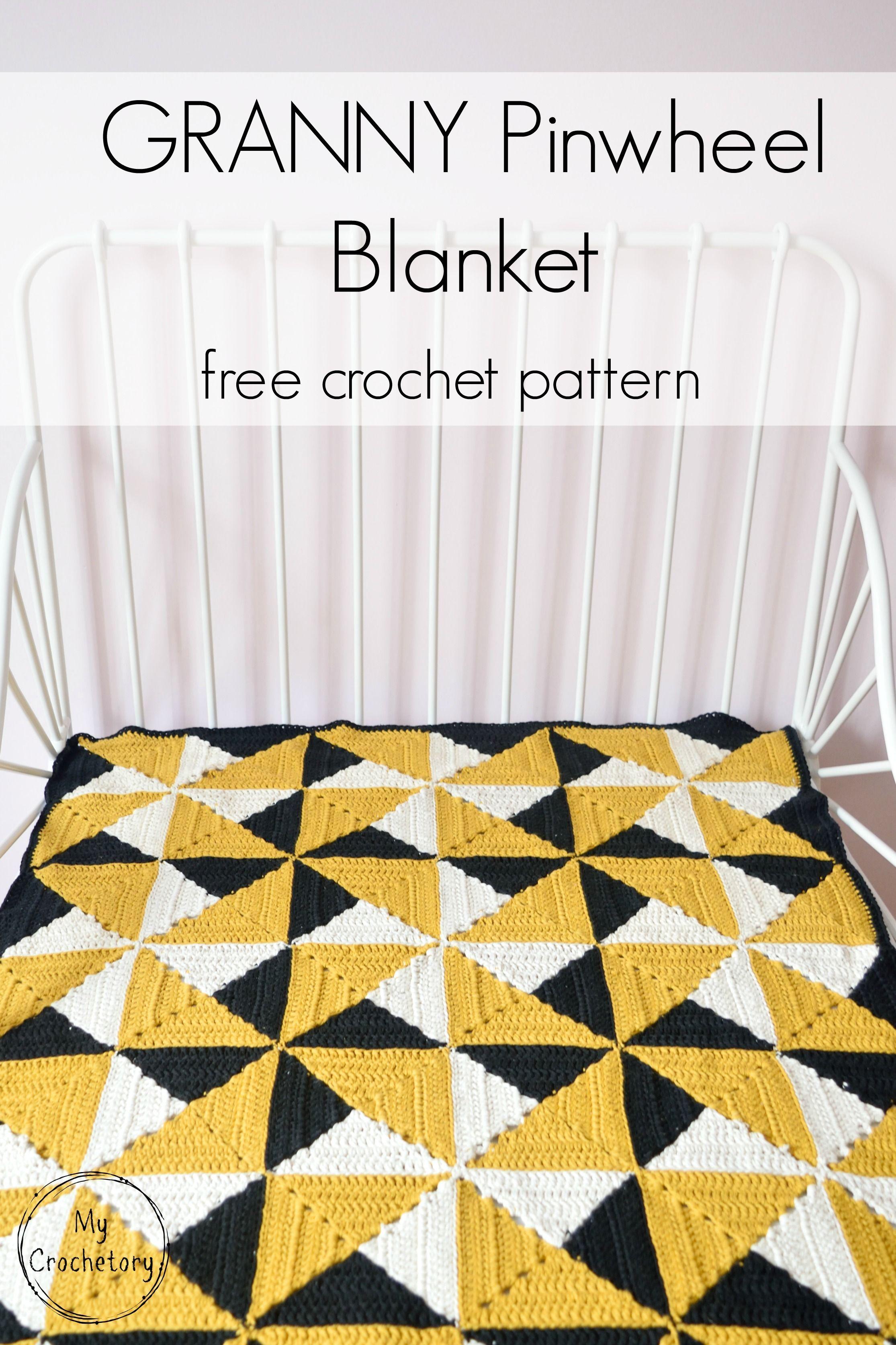 Granny Pinwheel Blanket   Quilts   Pinterest   Colchas, Manta y ...