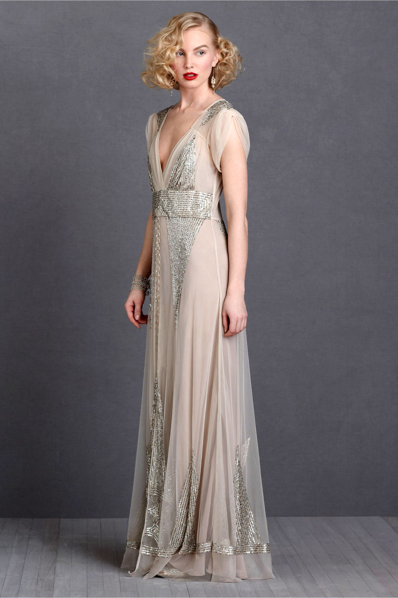 aiguille gown by BHLDN | Wedding | Pinterest | Gowns, Art deco and ...