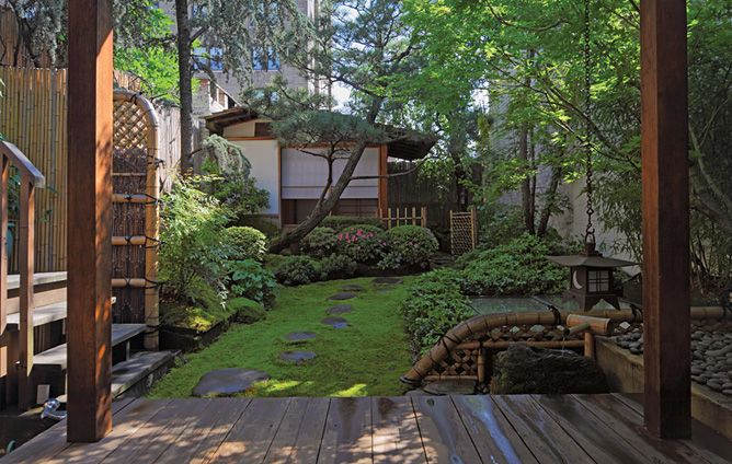 NYC UES OutdoorSpace Tranquil Japanese Garden In Manhattan