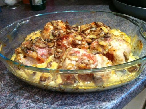 Paupiettes de porc la cr me et aux champignons recette - Cuisiner des paupiettes ...