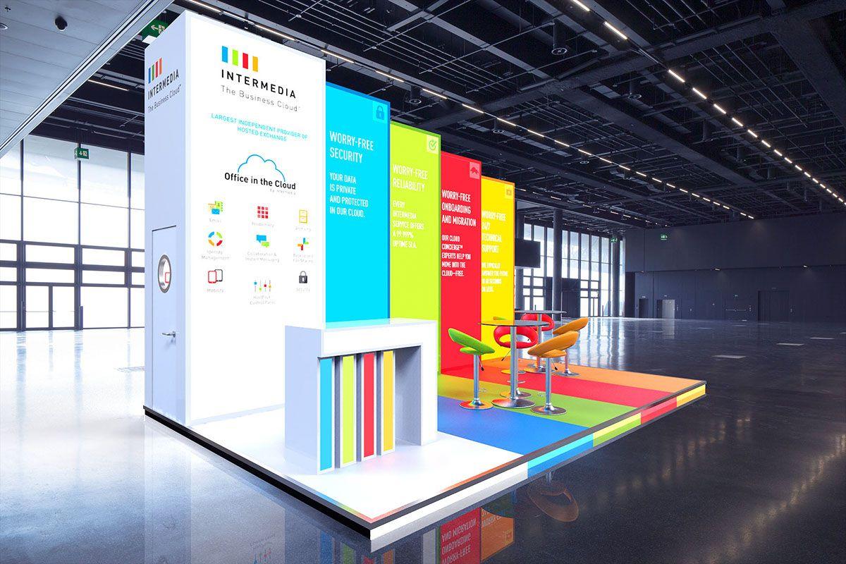 Intermedia Custom Build Exhibition Stand Backlit Graphics