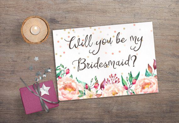 Printable Will you be my Bridesmaid, Printable Bridesmaid Card