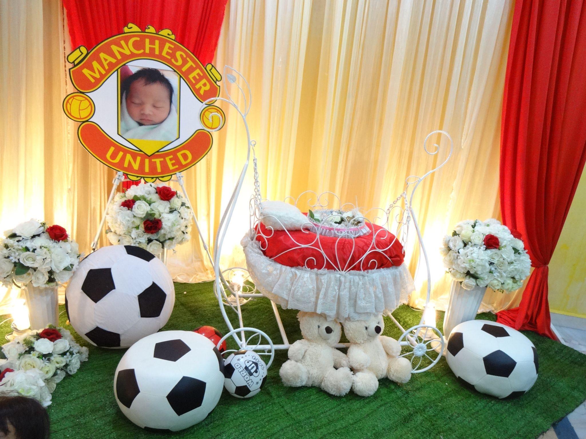 Pelamin Buaian Berendoi Theme Manchester United MU Majlis Di
