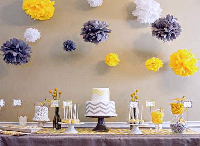 Girl Baby Shower Themes Yellow ~ 18 baby shower ideas for your baby babies babyshower and baby