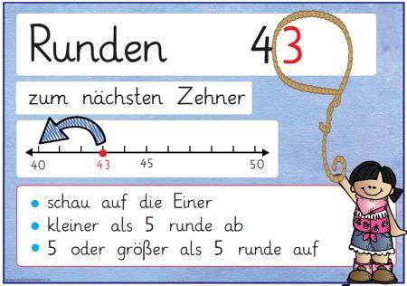 Passend zu den anderen Merkplakaten aus dem Bereich der Mathematik hier nun zwei Plakate zum Thema Runden:Zu finden bei den #math