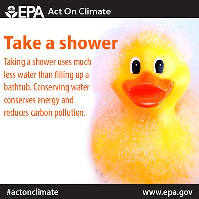 Take A Shower And Save Power Showering Uses 10 To 25 Gallons Of
