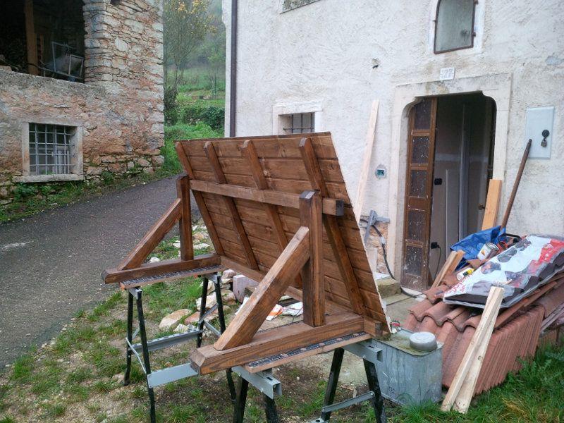 Costruire Una Porta Di Legno.Come Costruire Con Legno Riciclato Una Piccola Tettoia Per La Porta