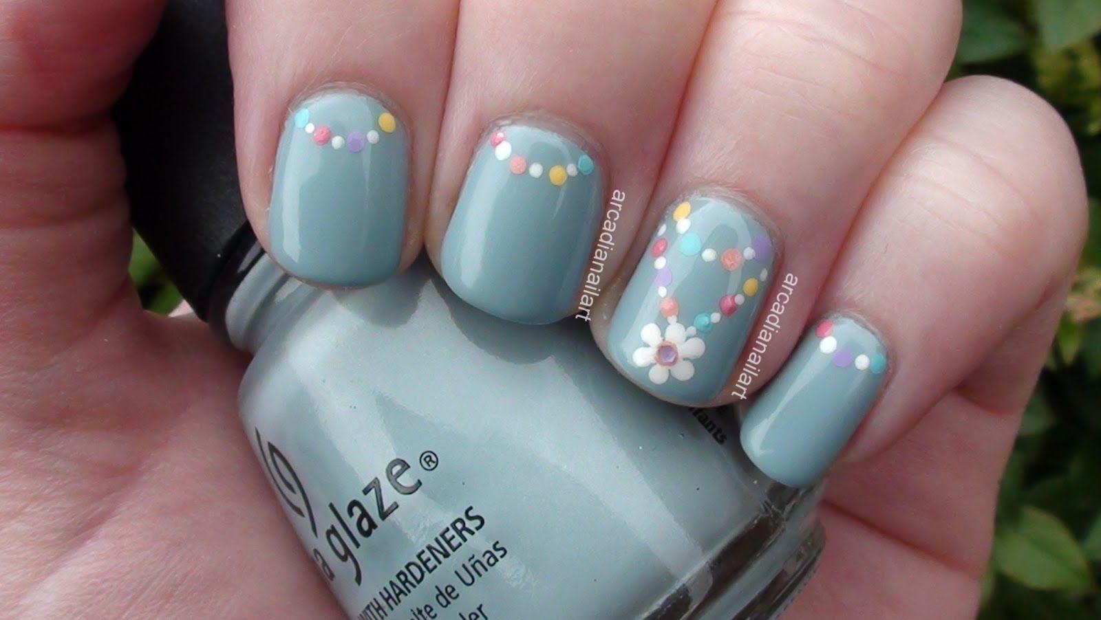 Cute Flower Nail Art Designs | Pinterest | Painted nail art, Flower ...