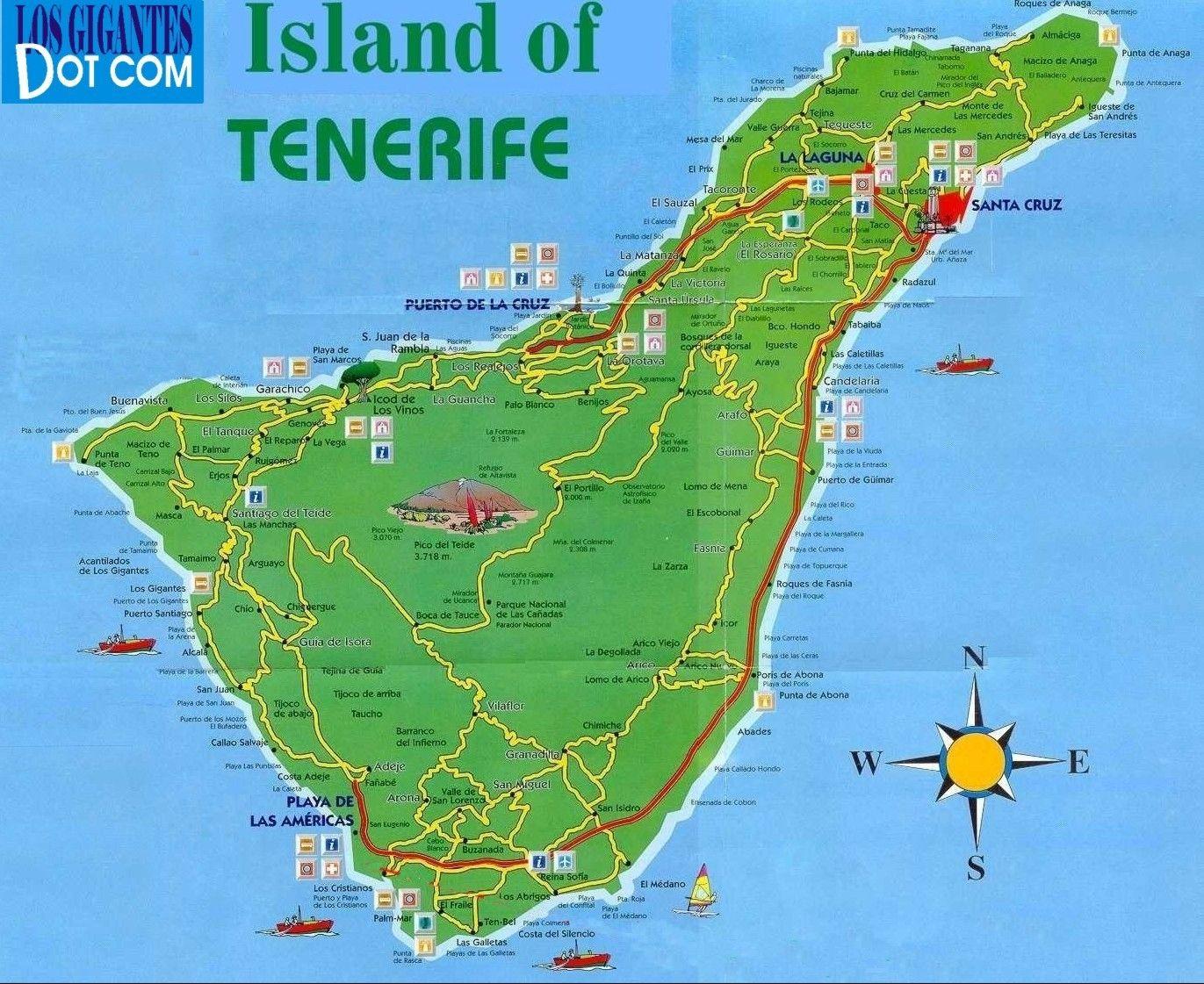 Google Image Result For Http Www Losgigantes Com Images Maps Page Tenerife Fullmap Jpg Canarische Eilanden Tenerife Vakanties