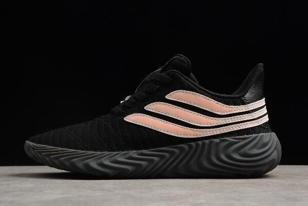 the latest 0345a bf559 Best Womens adidas Sobakov Black Pink Shoes BB7674 Free Shipping
