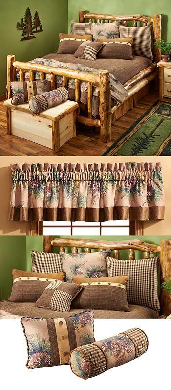 Pinecones and Tweed Bedding | Wild Wings