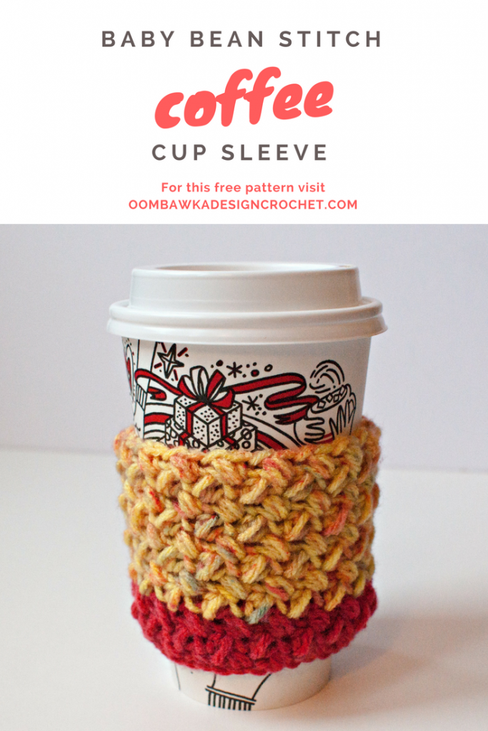 Make a Baby Bean Stitch Coffee Cup Sleeve https ...
