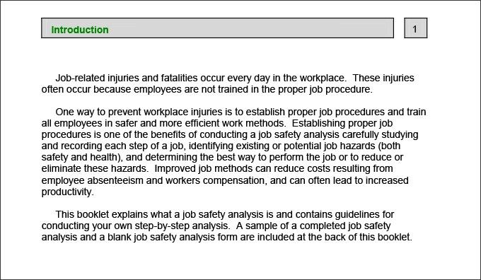 9+ Safety Analysis Templates Analysis, Workplace injury