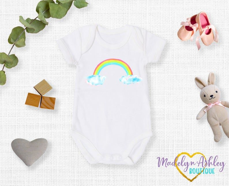 Rainbow Baby Onesie®, Rainbow Baby, Girl Onesie®, New Baby ...