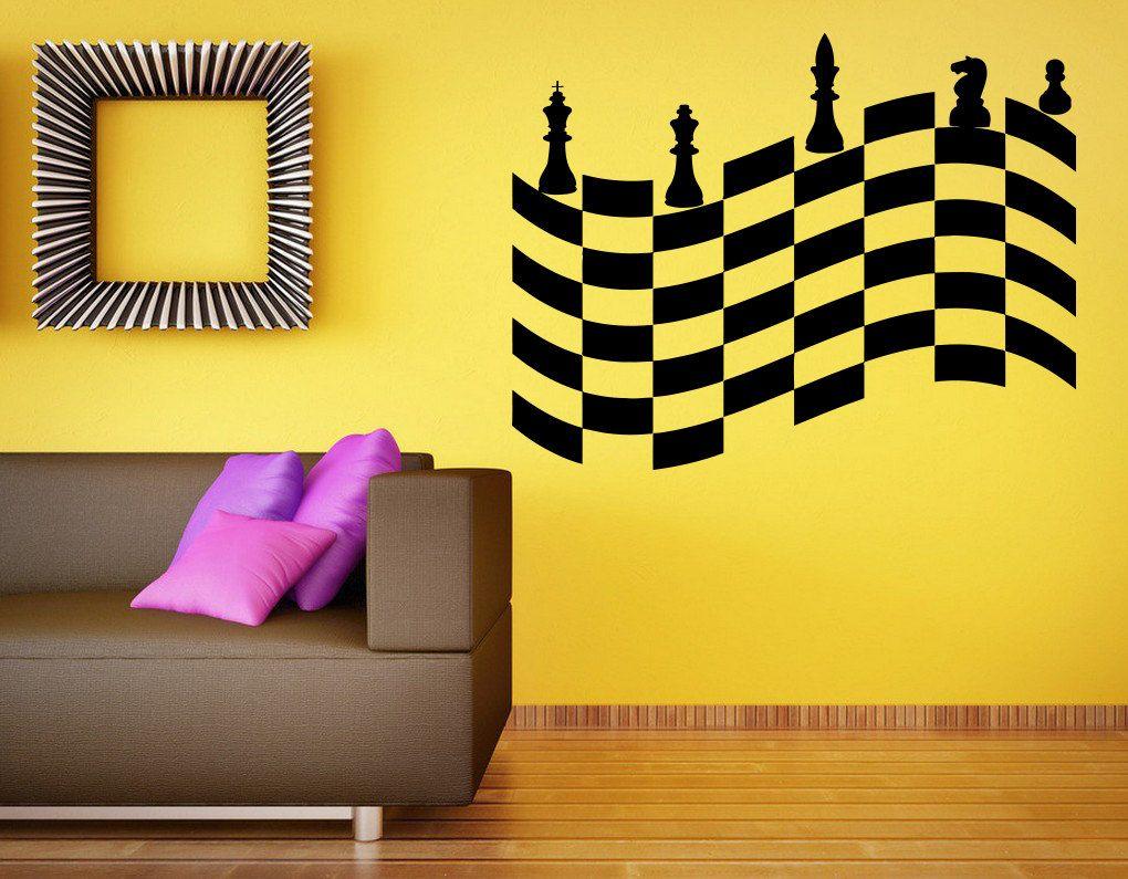 Wall Vinyl Sticker Decals Mural Room Design Decor Art Pattern Chess ...