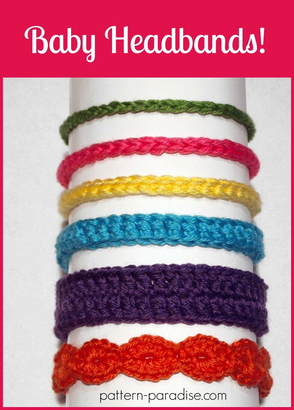 Free Crochet Pattern: Six Styles of Baby Headbands | Pattern Paradise #crochetedheadbands