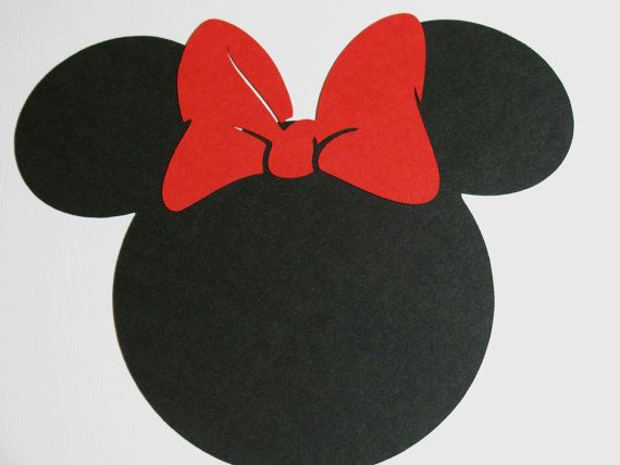 20 pack 5 Minnie Mouse ears with a RED bow DIY by ...