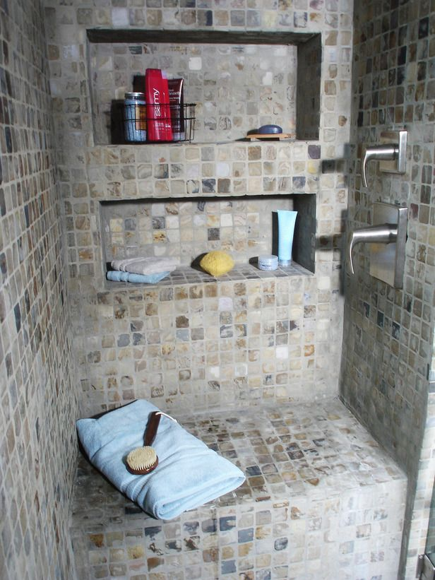 Raw Material Bathroom Shower Diy How To Grout Natural Stone Tile Network