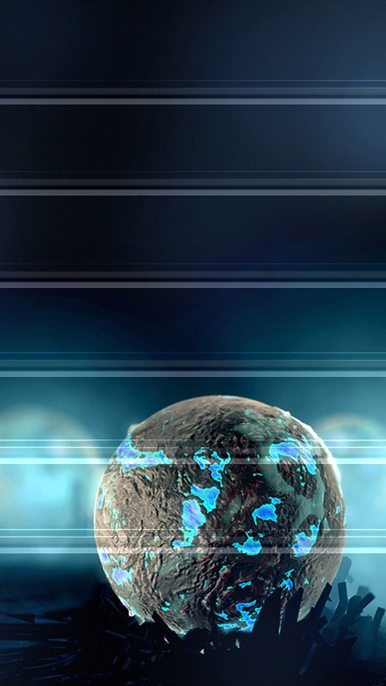 Wallpaper iphone free -  Tap And Get The Free App Shelves Art Graphics Planet Space Dark Blue