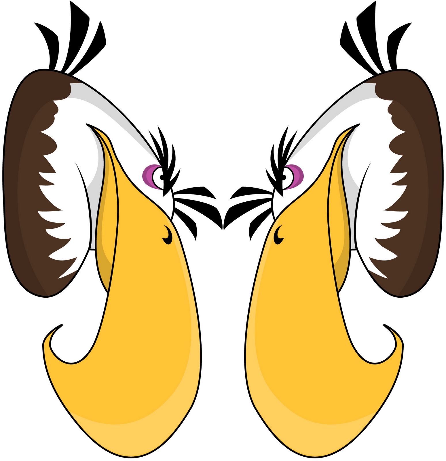 Angry Birds Mighty Eagle Printable Garland Template