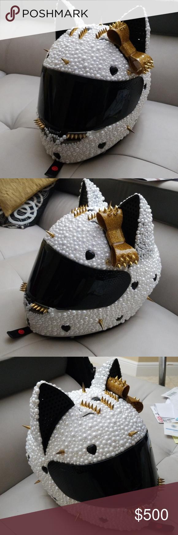 Custom Bedazzle Catwoman KBC Motorcycle Helmet