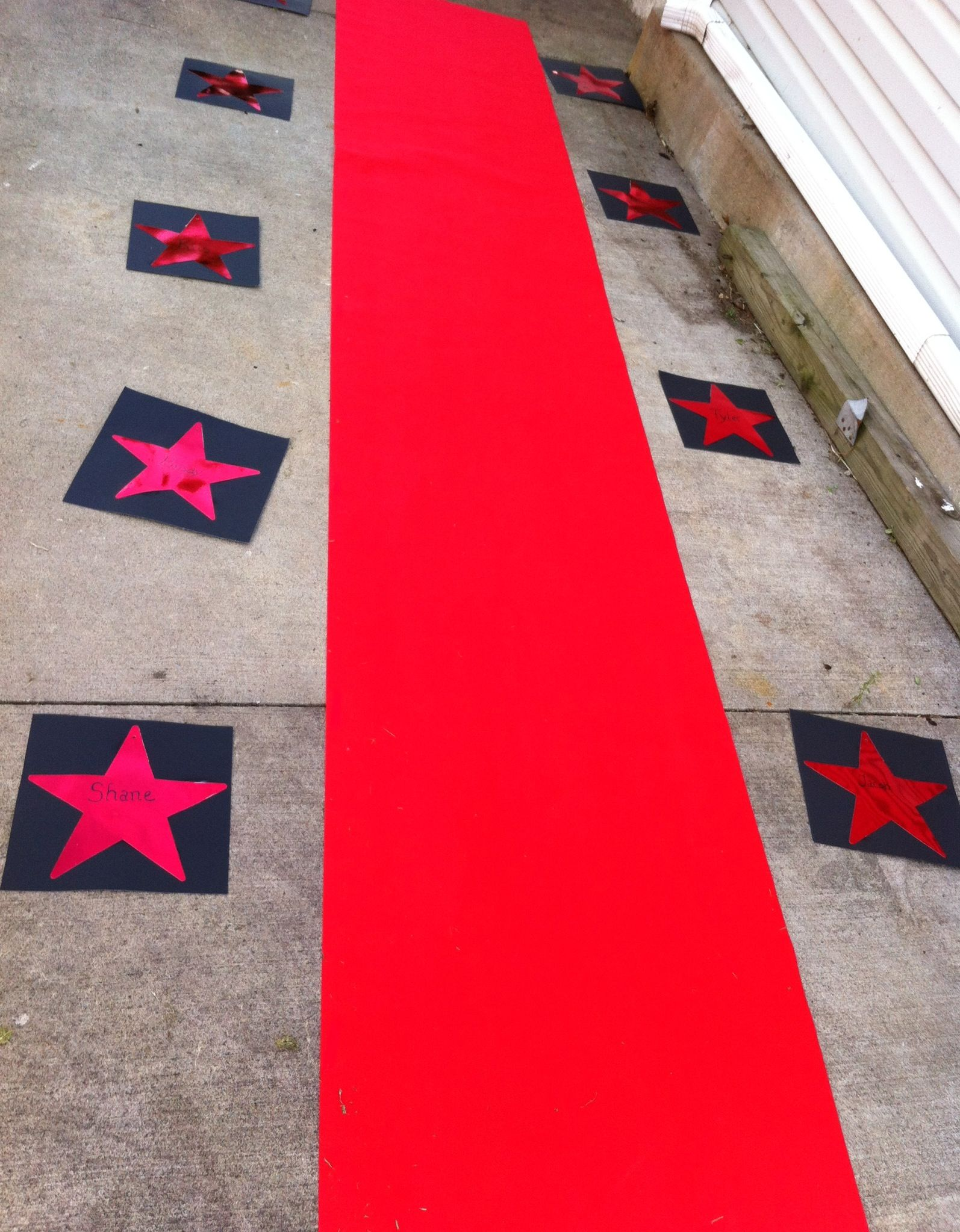 """Red Carpet Entrance"""" Hollywood Party Theme added names with"""