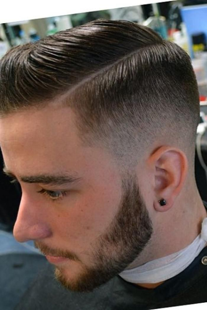 side part fade hairstyles men
