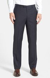 BOSS HUGO BOSS 'Sharp' Flat Front Wool Trousers