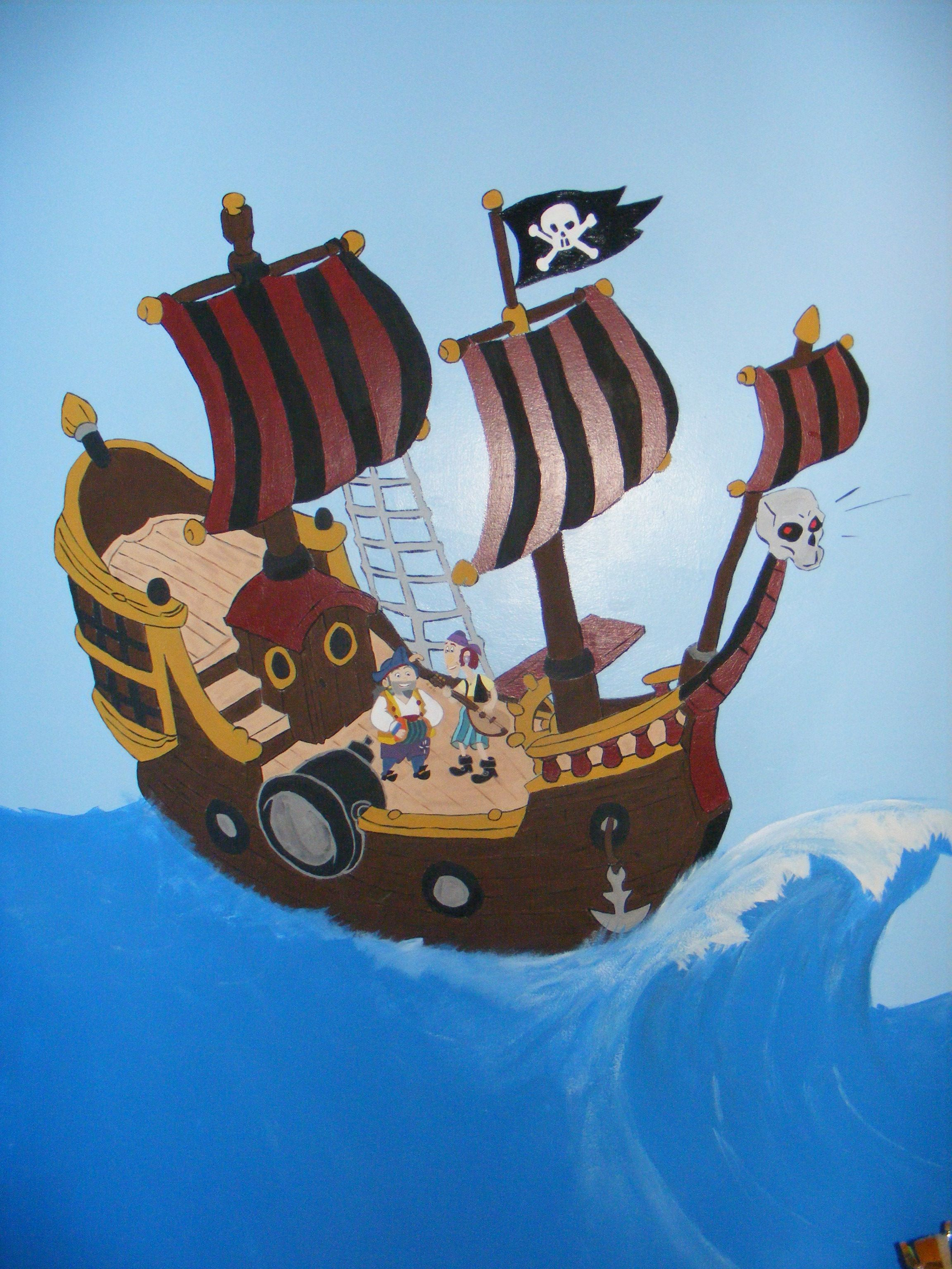 Captain Hooks Pirate Ship With Characters, Sharky & Bones On
