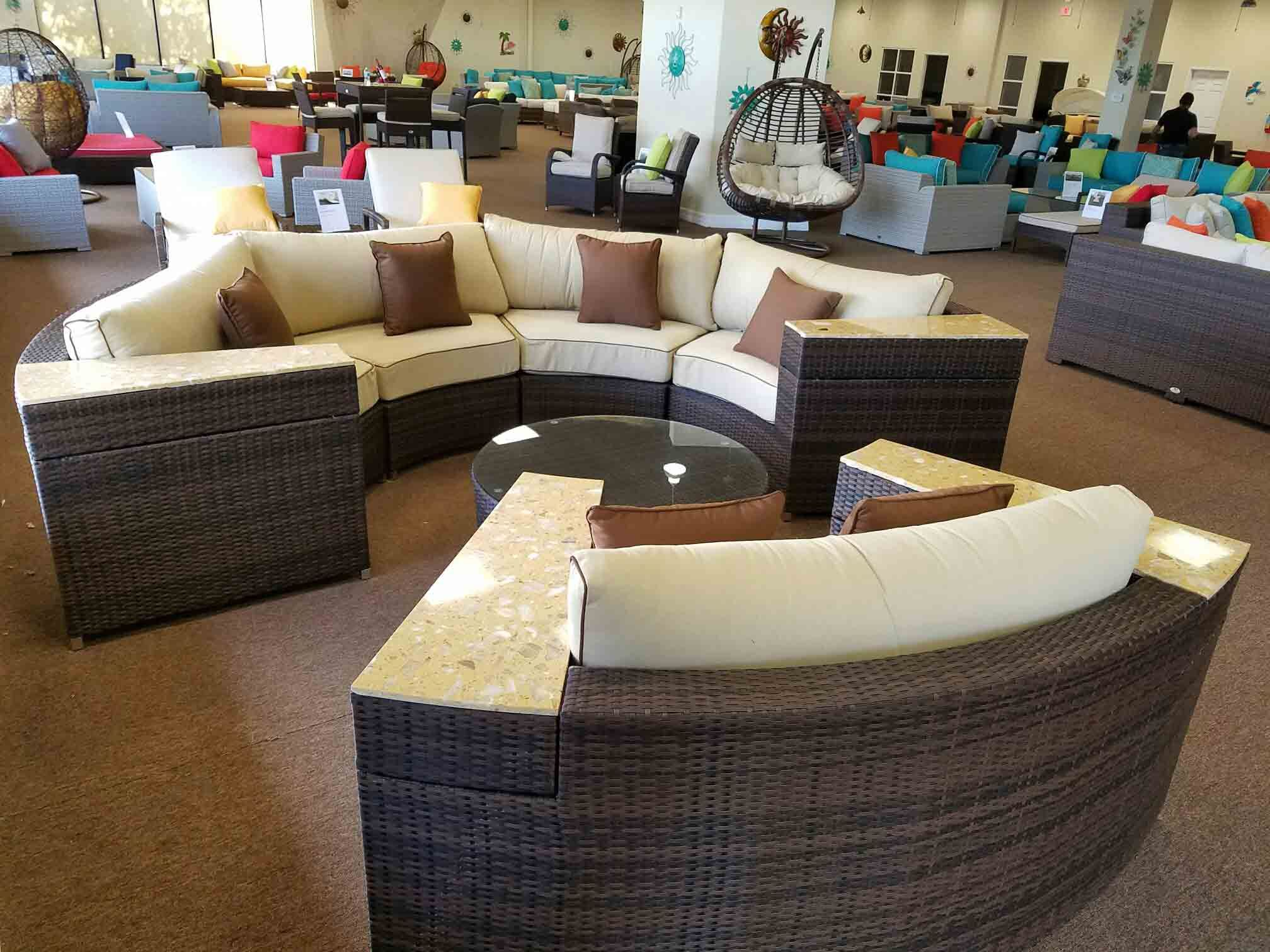 daybed corner round circle sofa sectional semi awesome livingroom enchanting chairfoldable circular rounded ilbl sunset couch co curved west lounge