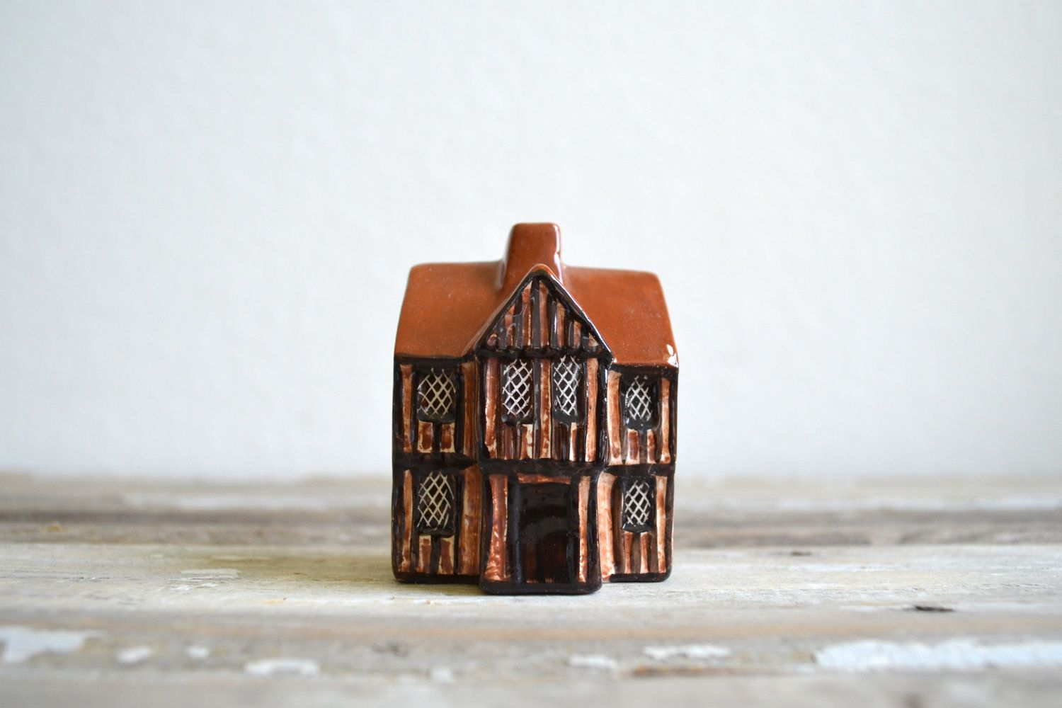 vintage Mudlen End Studio pottery miniature cottage.