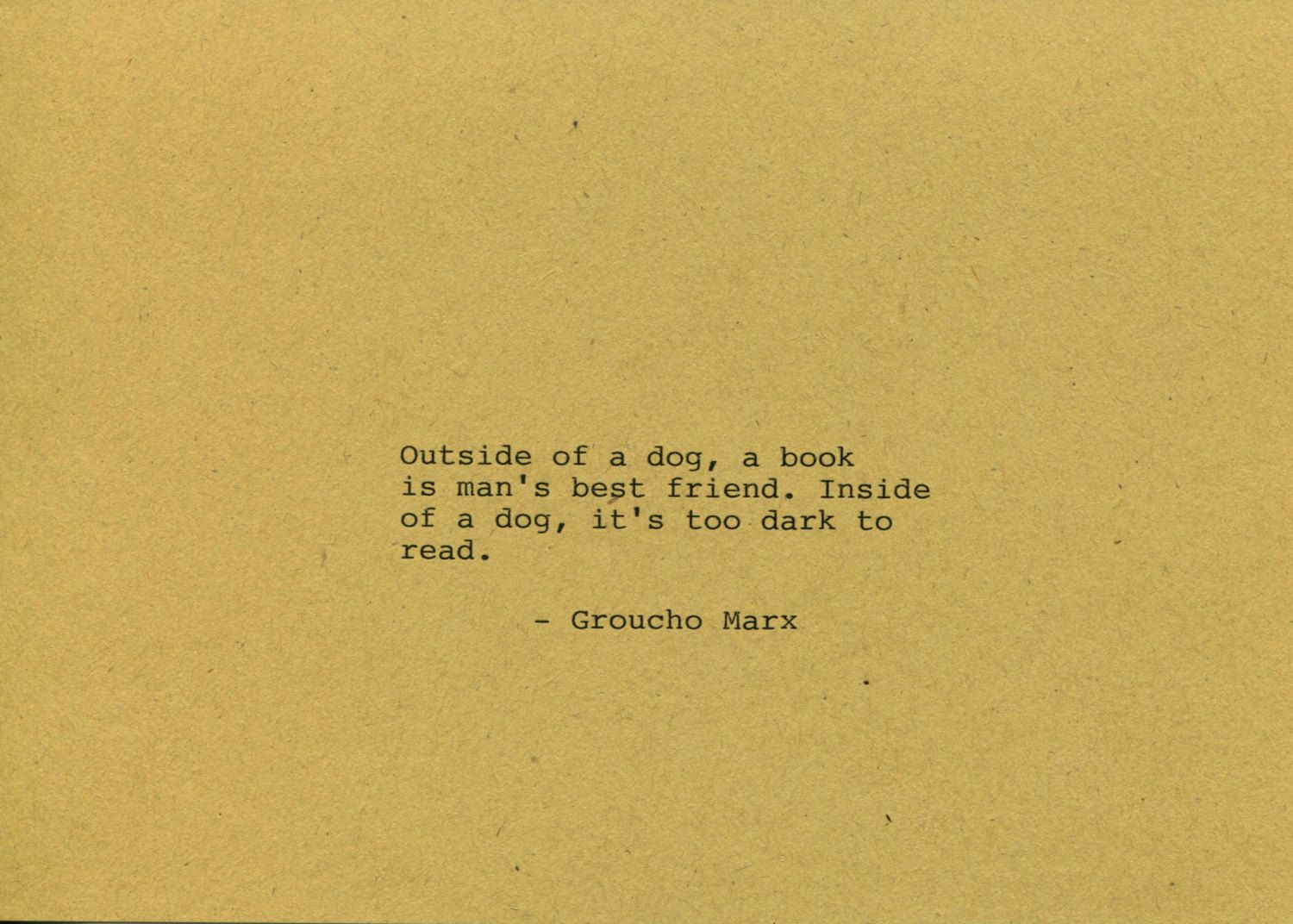 Groucho Marx Quote Made on Typewriter Home Decor Wall Art Quote Art ...