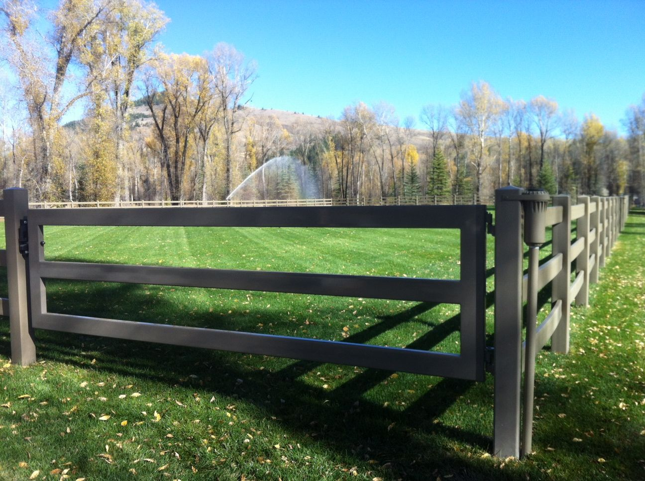 Equine Facility Products - Derby Fence steel board gate