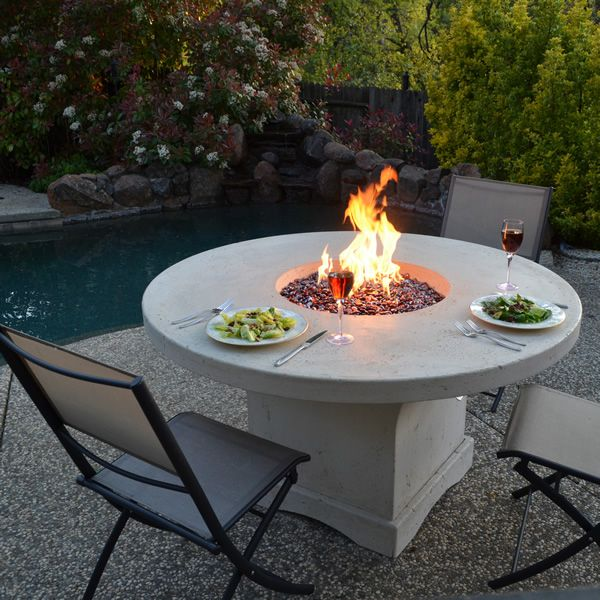 Mount Lassen Gas Chat Fire Pit Table Woodlanddirect Com Outdoor