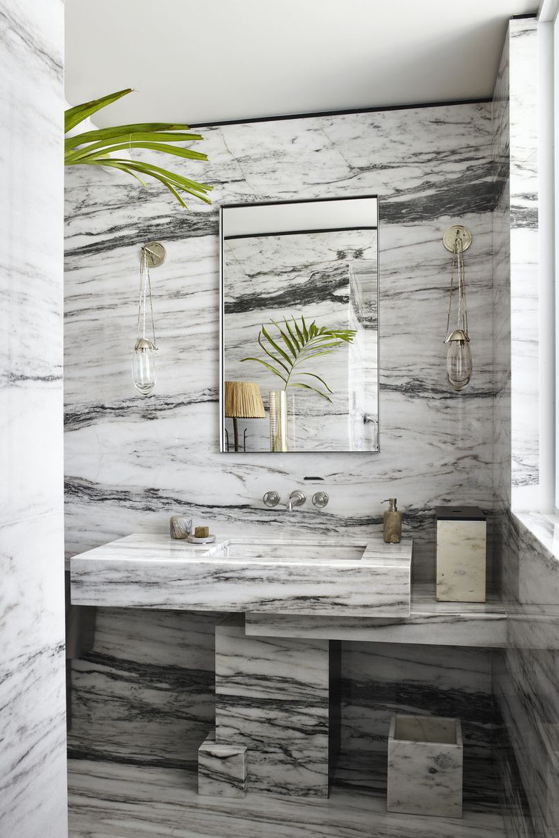 Wohnzimmerboden Modern Here S How To Craft A Small Bathroom That Feels Grand Amazing