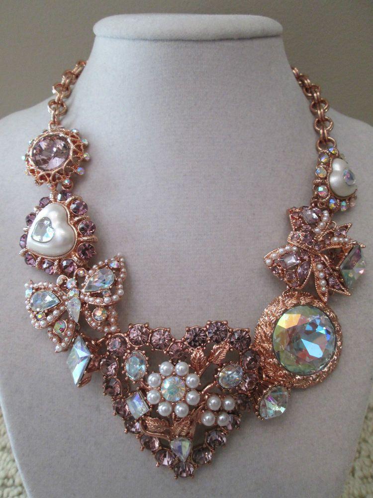 74ed60e39613b NWT Auth Betsey Johnson Iconic Rose-Goldtone Heart Bow Charm ...