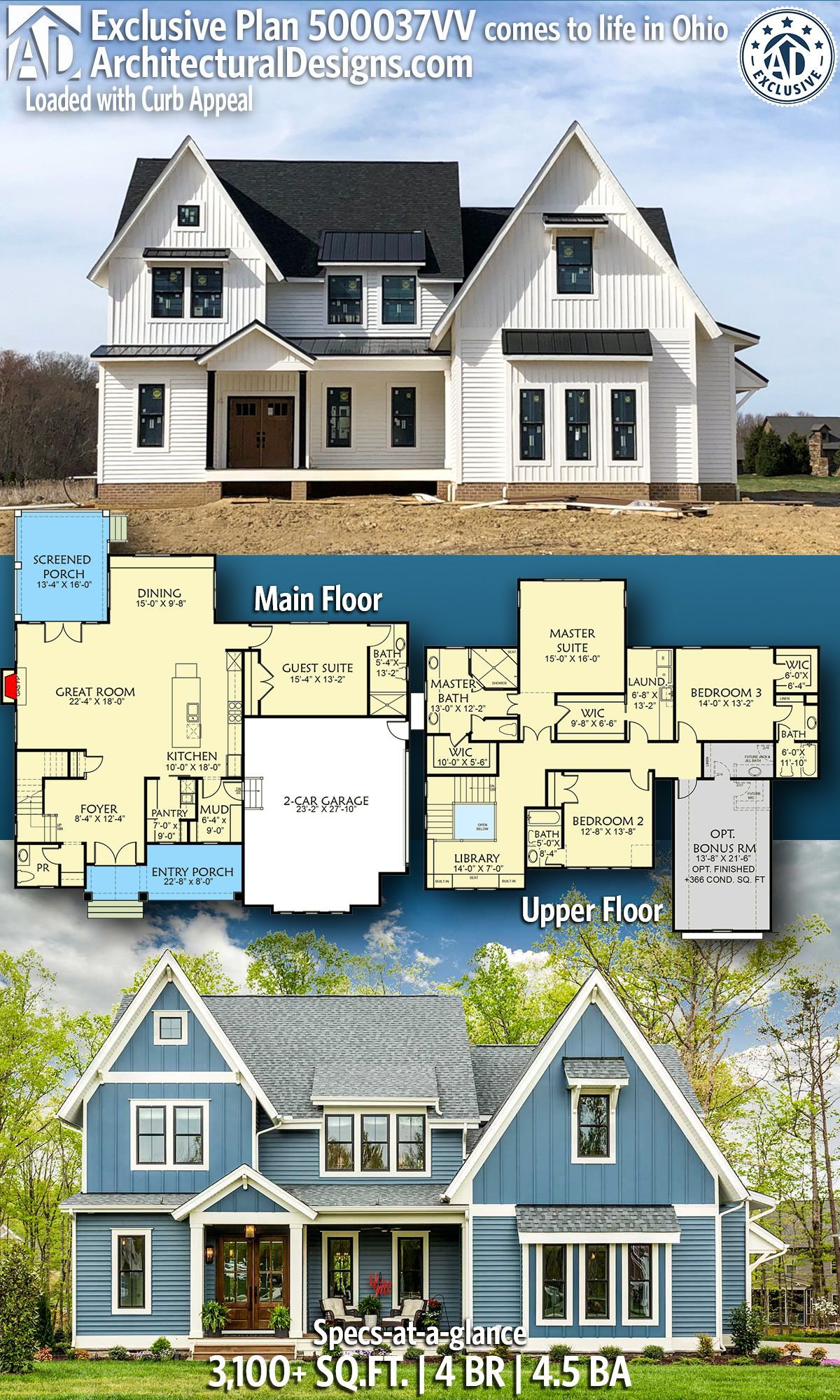 Plan 500037vv Loaded With Curb Appeal Exclusive House Plan House Plans Home Design Plans