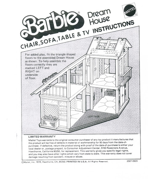 The One And Only Mattel Barbie 1978 A Frame Dreamhouse Website For Devoted Fans Paperwork 1978 A Frame Unfurnishe Barbie Dream House Dream House Barbie House