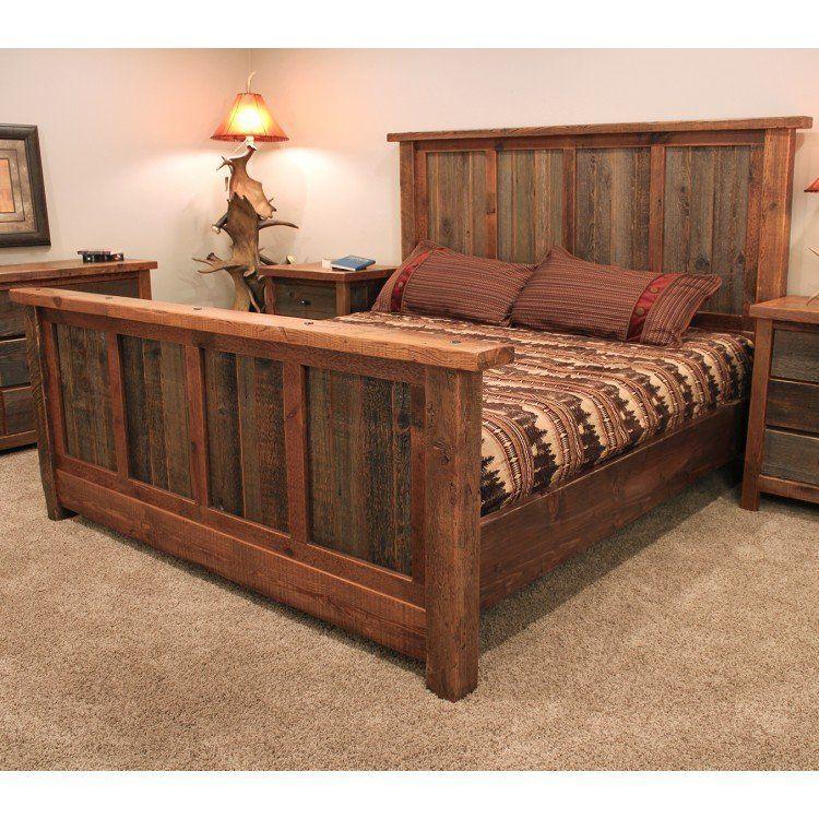 Rustic Reclaimed Barn Wood Bed Muebles Muebles Hogar Muebles De Madera Muebles Con Tarimas