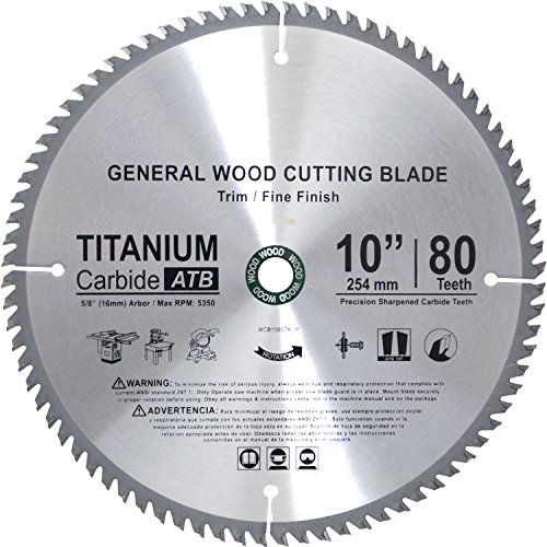 Concord Blades Wcb1000t80 P Tct General Purpose 10 Inch 80 Teeth Hard And Soft Wood Saw Blade With 5 8 Inch Ar Circular Saw Blades Saw Blade Best Circular Saw