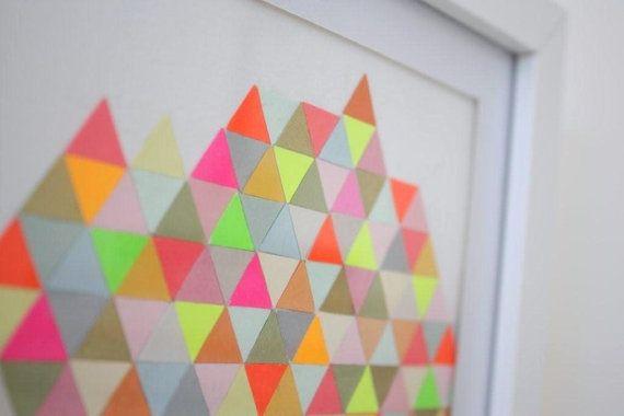 Flotte trekanter og farvekombination