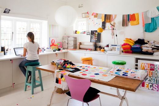 Castle & Things work table/studio