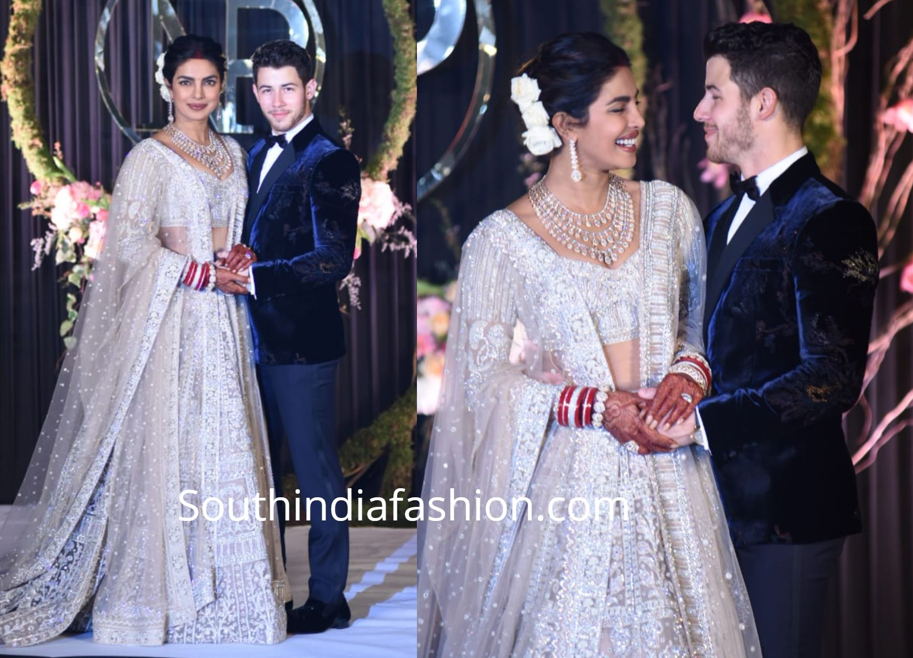 Priyanka Chopra And Nick Jonas At Their Delhi Wedding Reception