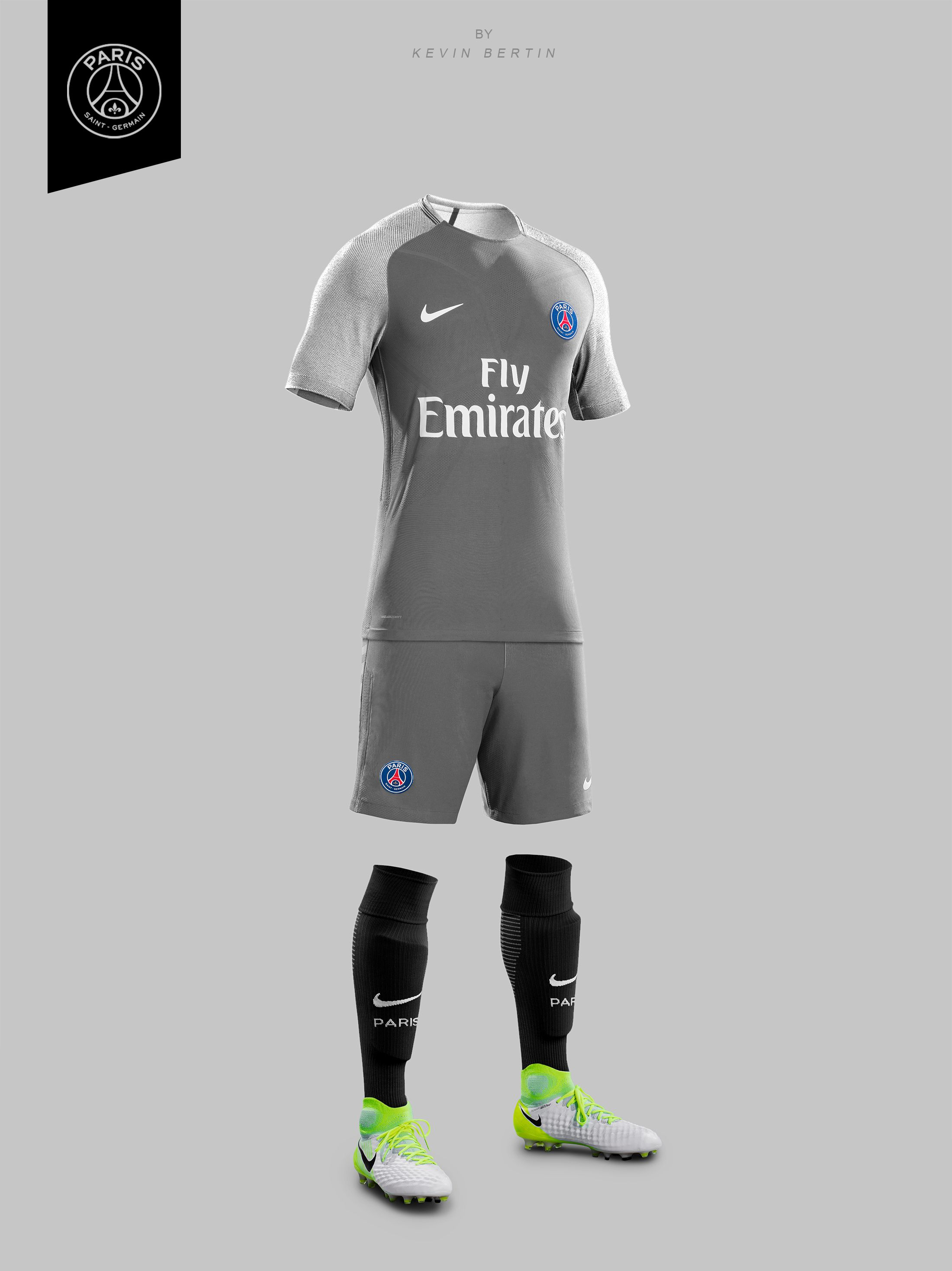 64e08b42 PSG Concept Design by Kevin Bertin Jersey Maillot kit Nike 2019 Paris Saint- Germain