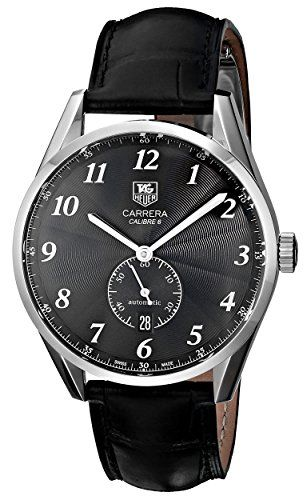 TAG Heuer Men's WAS2110.FC6180 Carrera Watch With Black Leather Band TAG Heuer http://www.amazon.com/dp/B00685OR5A/ref=cm_sw_r_pi_dp_A9mXvb0JEXN8K