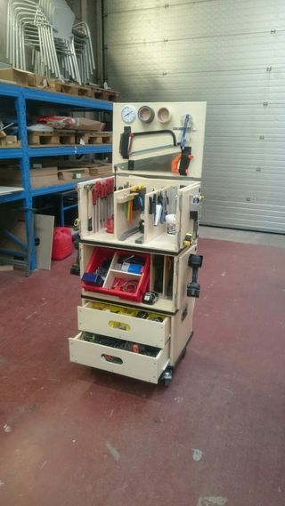 Ultimate Portable Mobile Toolbox #decorateshop Hi there, i'm a Carpenter who is a lot on the road to decorate shops and put up exposition fairsi have searched for a good mobile toolbox that is also easy to handle... #decorateshop