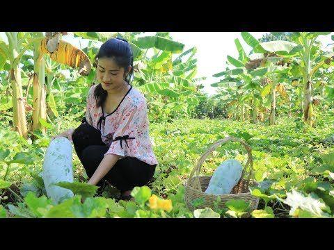 Winter Melon Banana Leaf Cake Recipe - Ripe Winter Melon Recipe - Prepare by countryside life TV.